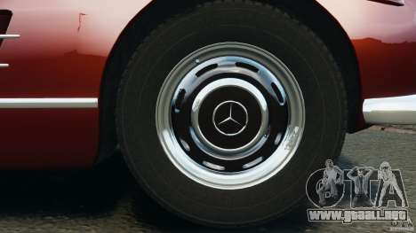 Mercedes-Benz 300 SL Roadster v1.0 para GTA 4 vista desde abajo