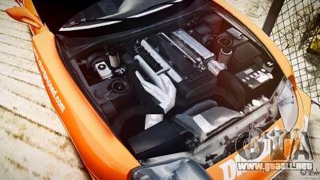Toyota Supra MK4 Tunable v1.0 para GTA 4 vista hacia atrás