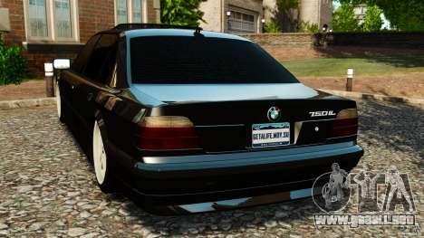 BMW 750iL E38 Light Tuning para GTA 4 Vista posterior izquierda