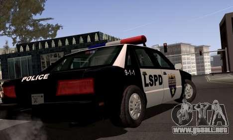 New Police LS para GTA San Andreas vista hacia atrás