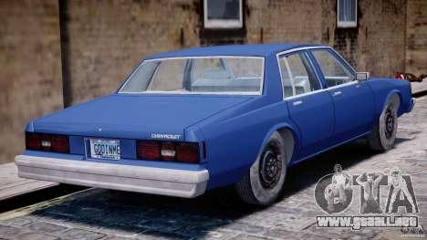 Chevrolet Impala 1983 [Final] para GTA 4 vista desde abajo