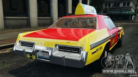 Dodge Monaco 1974 Taxi v1.0 para GTA 4 Vista posterior izquierda