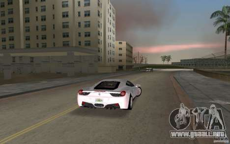 Ferrari 458 Italia para GTA Vice City