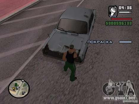 Repintado del actuador para GTA San Andreas tercera pantalla
