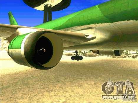 Boeing E-767 para GTA San Andreas vista hacia atrás
