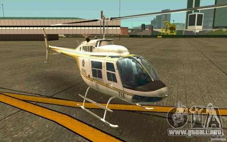 Bell 206 B Police texture4 para GTA San Andreas left