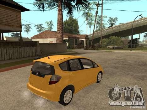 Honda Jazz (Fit) para la visión correcta GTA San Andreas