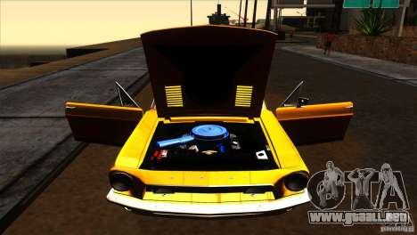 Shelby GT500KR para vista lateral GTA San Andreas