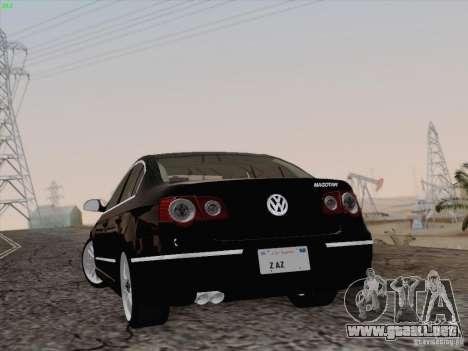Volkswagen Magotan 2011 para visión interna GTA San Andreas