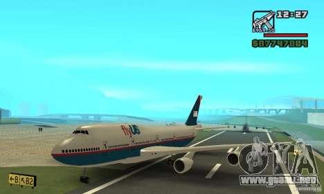 GTA 4 aeronaves Boeing 747 para GTA San Andreas