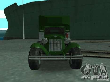 GAZ-AAA para la visión correcta GTA San Andreas