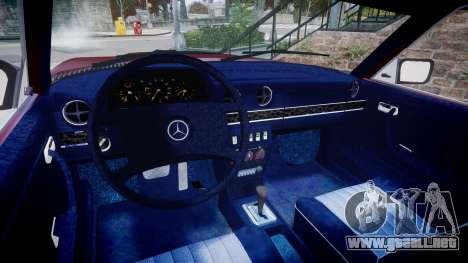 Mercedes-Benz 230E 1976 Tuning para GTA 4 vista hacia atrás