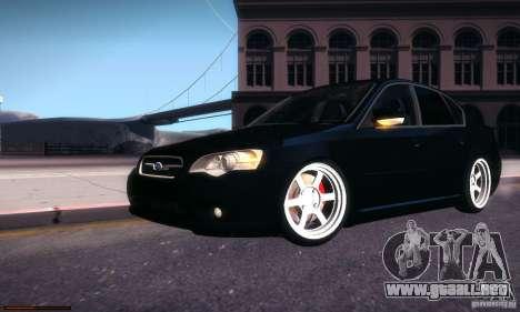 Subaru Legacy BIT edition 2004 para la vista superior GTA San Andreas