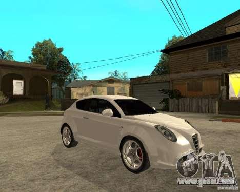 Alfa Romeo Mito para la visión correcta GTA San Andreas