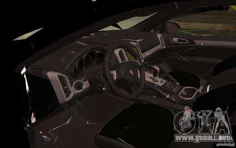 Porsche Cayenne Turbo 958 Seacrest Police para visión interna GTA San Andreas