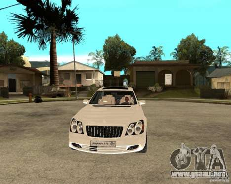 Maybach 57 S para GTA San Andreas vista hacia atrás