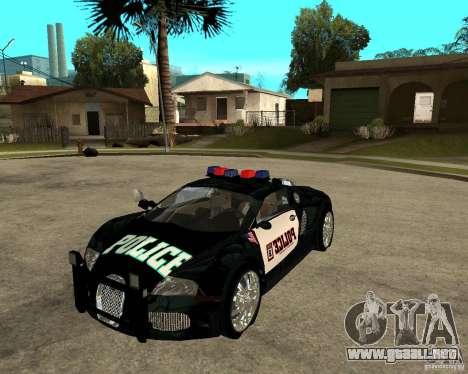 Bugatti Veyron policía San Fiero para GTA San Andreas