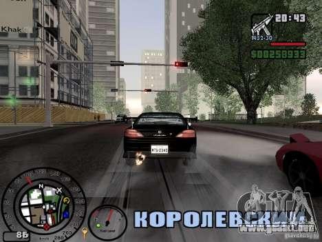 El fuego de los tubos de escape v2.0 para GTA San Andreas segunda pantalla