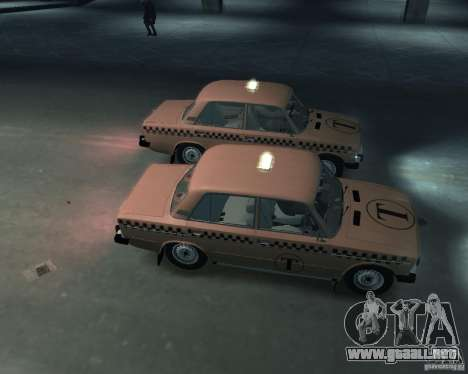 Taxi 2106 VAZ para GTA 4 vista interior