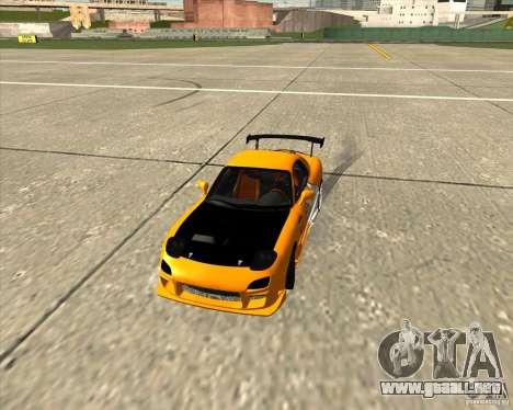 Mazda RX-7 sumopoDRIFT para visión interna GTA San Andreas