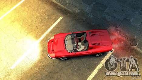 Ferrari Dino 246 GTS para GTA 4 vista hacia atrás