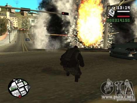 Los explosivos de cod mw2 para GTA San Andreas tercera pantalla