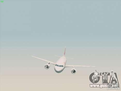 Airbus A319-112 Swiss International Air Lines para la visión correcta GTA San Andreas