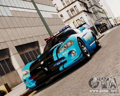Dodge Viper SRT-10 ACR 2009 Police ELS para GTA 4