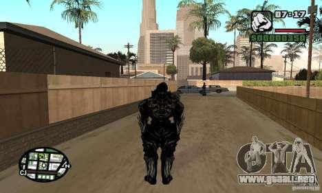 Alex Mercer v2 para GTA San Andreas segunda pantalla