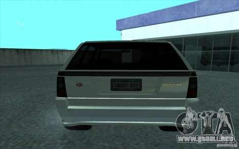 Huntley de GTA 4 para GTA San Andreas vista posterior izquierda