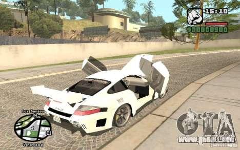 Porsche 911 Turbo S Tuned para GTA San Andreas vista hacia atrás