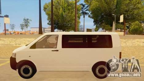 Volkswagen Transporter T5 Facelift 2011 para GTA San Andreas left