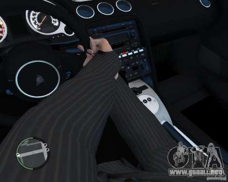 Lamborghini Gallardo 2005 para GTA 4 vista hacia atrás