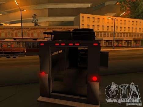 Monster Van para las ruedas de GTA San Andreas