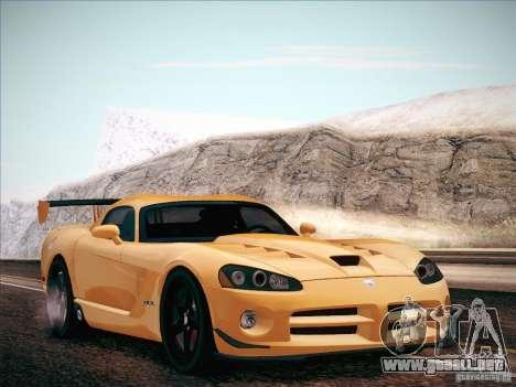 Dodge Viper SRT-10 ACR para la visión correcta GTA San Andreas