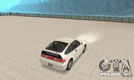 HONDA CRX II 1989-92 para la visión correcta GTA San Andreas