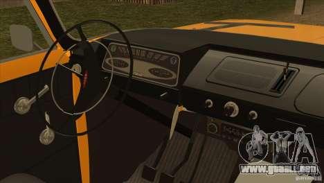 Moskvich 412 v2.0 para GTA San Andreas vista hacia atrás