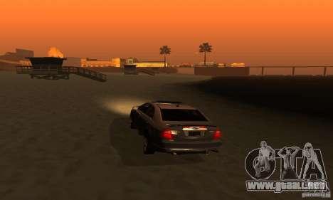 Ford Fusion Sport para GTA San Andreas vista hacia atrás