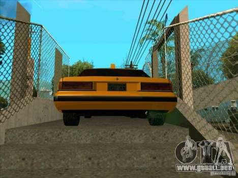 Intruder Taxi para GTA San Andreas vista posterior izquierda