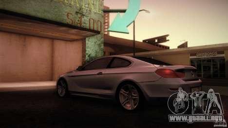 BMW 640i Coupe para GTA San Andreas vista posterior izquierda