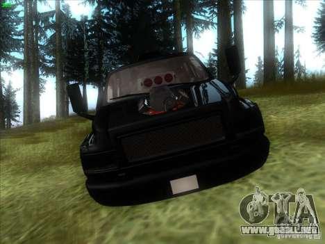 GMC C4500 Pickup DUB Style para GTA San Andreas vista hacia atrás