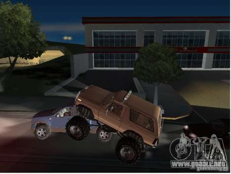 Ford Bronco IV Monster para vista lateral GTA San Andreas