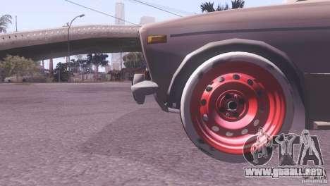Estilo de rata Tuning 2106 VAZ para GTA San Andreas vista hacia atrás