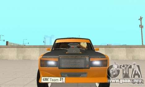 VAZ 2107 Off Road para visión interna GTA San Andreas