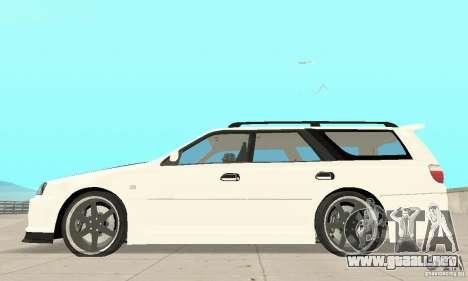 Nissan Stagea GTR para GTA San Andreas vista hacia atrás