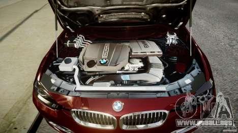 BMW 335i 2013 v1.0 para GTA 4 vista hacia atrás