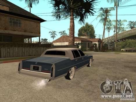 Cadillac Fleetwood Brougham 1985 para la visión correcta GTA San Andreas