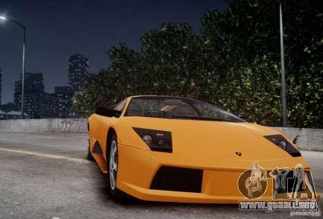Lamborghini Murcielago para GTA 4 vista hacia atrás
