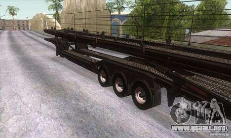 El camión de remolque para la visión correcta GTA San Andreas