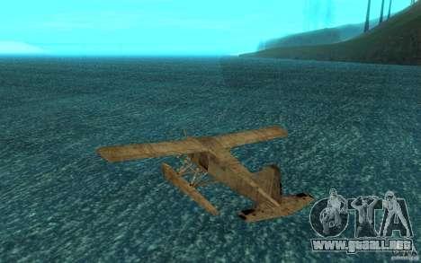 De Havilliand Beaver DHC2 para la visión correcta GTA San Andreas